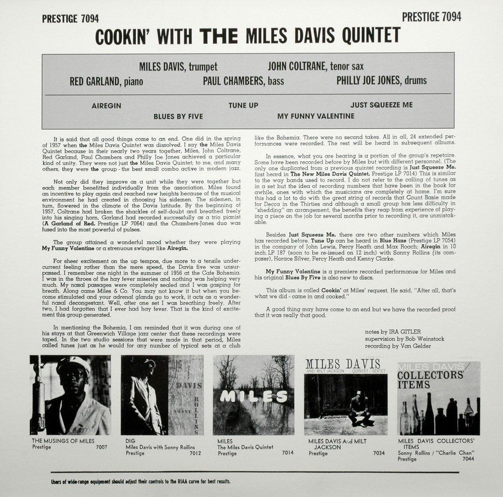 Miles Davis Cookin